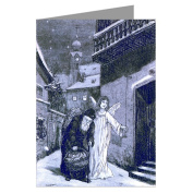 Victorian Angel Helping Saint Nick Deliver Christmas Presents Vintage Holiday Greeting Cards Boxed Set