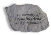Memory faithful friend - Great Thoughts Garden Accents Graveside Memorial Plaques Grave Marker Ornament