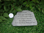 Memorial. Dad They say time heals.. Great Thoughts Garden Accents Graveside Memorial Plaques Grave Ornament with Engraving Fathers Day Remembrance