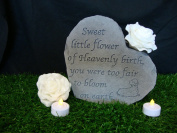 Heart small sweet little flower- Great Thoughts Garden Accents Graveside Memorial Plaques Grave Marker Ornament