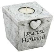 Dearest Husband Grave Marker Memorial Tealight T-lite Candle Graveside Memoriam Ornament Plaque
