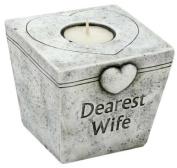Dearest Wife Grave Marker Memorial Tealight T-lite Candle Graveside Memoriam Ornament Plaque