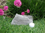 Memorial Garden Accent. Until We Meet Again..Great Thoughts Garden Accents Graveside Memorial Plaques Grave Ornament with Engraving