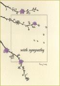 Penny Lindop Designs - Handmade Sympathy Card With Blossom