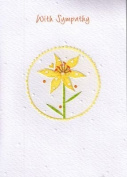 Rosies Cards Handcrafted Glitter Greeting Cards Simple Sympathy Card