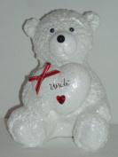 Uncle Snow Teddy Bear Outdoor Grave Memorial Ornament