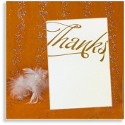 Classic Ivory 'Thanks' Thank You Cards- Gold Hot Foil Embossed x 10