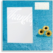 Contemporary White Linen 'Thanks' Thank you Cards-Silver Hot Foil Embossed (Envelopes & Inserts to Print Inc) x 10