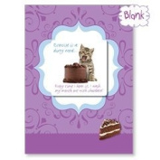 Exercise Is A Dirty Word - Kitten Blank Magnet Card