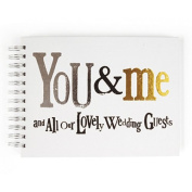 You & Me and All Our Lovely Wedding Guests Guest Book - Bright Side