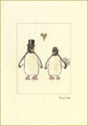 Penny Lindop Designs - Handmade Card - Penguin Wedding