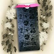 Tapestry Black Broderie Pocket Invitations (Matching Envelopes & White Inserts Inc For Printing) x 5