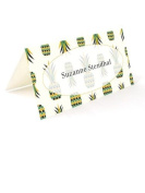 Tartan & Zebra 10 Place cards with pineapples print
