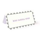 Tartan & Zebra 10 Ready to use wedding place cards with border