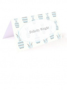 Tartan & Zebra 10 Table place cards with light blue pineapples
