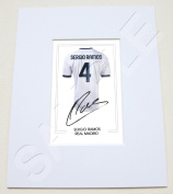 MOUNTED SERGIO RAMOS REAL MADRID SIGNED 25cm X 20cm MOUNT WITH PRINTED AUTOGRAPH PHOTO PRINT PHOTOGRAPH AUTOGRAPHED POSTER JERSEY SHIRT GIFT PRESENT XMAS CHRISTMAS BIRTHDAY
