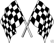 Stock Rally Car Racing Chequered Flags Stickers/Decals