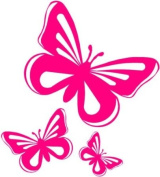 Pink Butterfly Vinyl Stickers decals,car,window,van