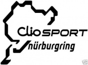 Renault Clio Sport Nurburgring Sticker, decal, graphic
