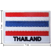 Thailand Nation Flag Style-2 Embroidered Iron or Sew on Patch by Wonder Fullmoon