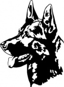 German Shepherd/Alsatian Dog Car,Van Window Sticker #2