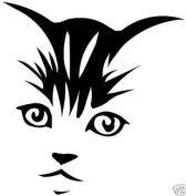 Cat,Kitten Face Vinyl Sticker Decal Car,Laptop,Window
