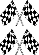 Chequered Flags Rally Motorsport Stock Car Stickers ~5