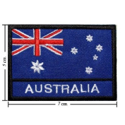 Australia Nation Flag Style-2 Embroidered Iron or Sew on Patch by Wonder Fullmoon