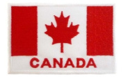 Canadian Flag Canuk Maple Leaf Embroidered Patch by Wonder Fullmoon