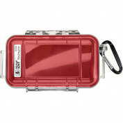 Pelican 1015 Micro Case w/Clear Lid - Red