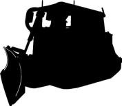Caterpillar D6T Car,Tool Box Van Window Sticker ~2