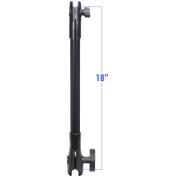 RAM Mount 46cm Long Extension Pole w/2.5cm and 3.8cm Single Open Sockets