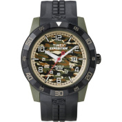 Timex Men's Expedition Rugged Analogue Camo Watch, Black Resin Strap