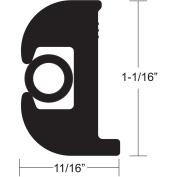 TACO Flex Vinyl Rub Rail Kit - Black w/Black Insert - 50' - 2.5cm - 0.2cm