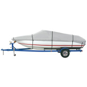 Dallas Manufacturing Co. Heavy Duty Polyester Boat Cover A - 14-16' V-Hull Fishing Boats - Beam Width to 170cm