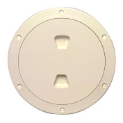 Beckson 15cm Smooth Centre Screw-Out Deck Plate - Beige