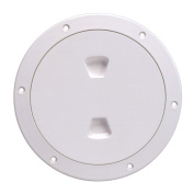 Beckson 15cm Smooth Centre Screw-Out Deck Plate - White
