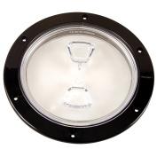 Beckson Marine, Inc Beckson 15cm Clear Centre Screw-Out DecK Plate - Black