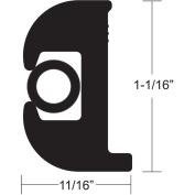 TACO Flex Vinyl Rub Rail Kit - Black w/Black Insert - 70' - 2.5cm - 0.2cm x 1.7cm
