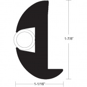 TACO Flex Vinyl Rub Rail Kit - Black w/White Insert - 50' - 2.5cm - 2.2cm x 2.5cm - 0.2cm