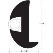 TACO Flex Vinyl Rub Rail Kit - Black w/White Insert - 70' - 2.5cm - 2.2cm x 2.5cm - 0.2cm