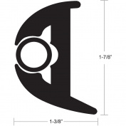 TACO Flex Vinyl Rub Rail Kit - Black w/Black Insert - 50' - 2.5cm - 2.2cm X 2.5cm - 1cm