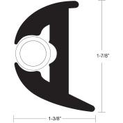 TACO Flex Vinyl Rub Rail Kit - Black w/White Insert - 50' - 2.5cm - 2.2cm x 2.5cm - 1cm