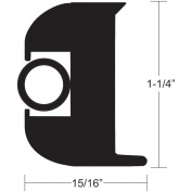 TACO Flex Vinyl Rub Rail Kit - Black w/Black Insert - 70' - 2.5cm - 0.6cm x 2.4cm