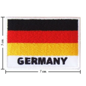 Germany Nation Flag Style-2 Embroidered Iron or Sew on Patch by Wonder Fullmoon