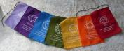 Chakra Meditation Cotton Prayer Flags Bunting - Hand Made in Bali