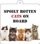 Spoilt Rotten Cats Car Wobbler