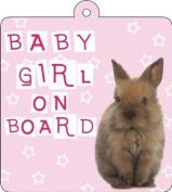 Baby Girl On Board Car Wobbler