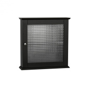 Elite Home Fashions Chesterfield Collection Medicine Cabinet with Tempered-Glass Door, Espresso