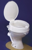Be-Active Prima Deluxe Clip-on Raised Toilet Seat with Lid